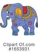 Elephant Clipart #1653931 by visekart