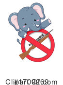 Elephant Clipart #1709269 by BNP Design Studio