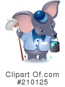 Elephant Clipart #210125 by BNP Design Studio