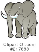 Royalty-Free (RF) Elephant Clipart Illustration #217888