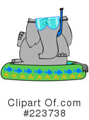 Royalty-Free (RF) Elephant Clipart Illustration #223738