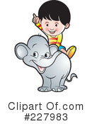 Royalty-Free (RF) Elephant Clipart Illustration #227983