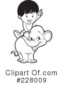 Royalty-Free (RF) Elephant Clipart Illustration #228009