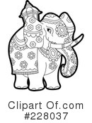 Royalty-Free (RF) Elephant Clipart Illustration #228037