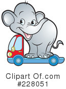 Royalty-Free (RF) Elephant Clipart Illustration #228051
