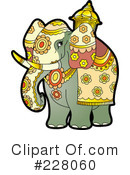Royalty-Free (RF) Elephant Clipart Illustration #228060