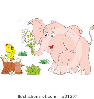 Elephant Clipart #31507 by Alex Bannykh