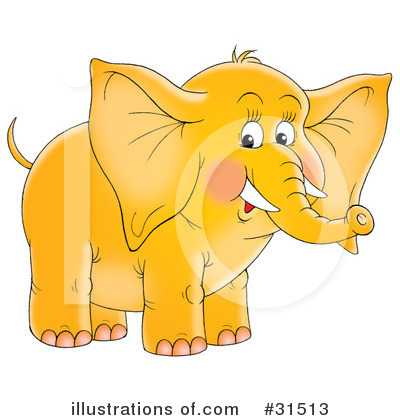 Elephant Clipart #31513 by Alex Bannykh
