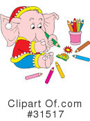 Elephant Clipart #31517 by Alex Bannykh