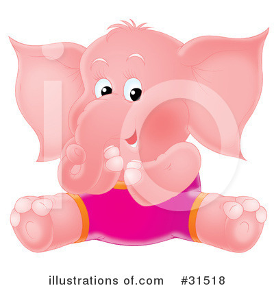 Elephant Clipart #31518 by Alex Bannykh