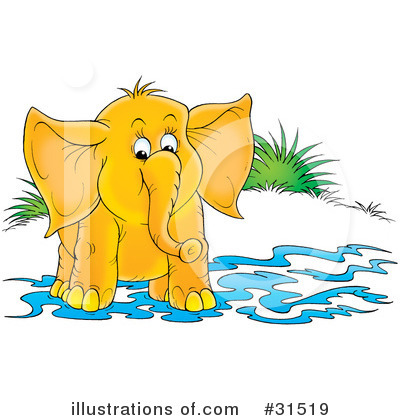 Royalty-Free (RF) Elephant Clipart Illustration by Alex Bannykh - Stock Sample #31519