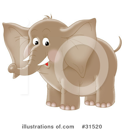 Elephant Clipart #31520 by Alex Bannykh