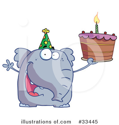 Party Animals Clipart #33445 by Hit Toon