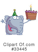 Elephant Clipart #33445 by Hit Toon