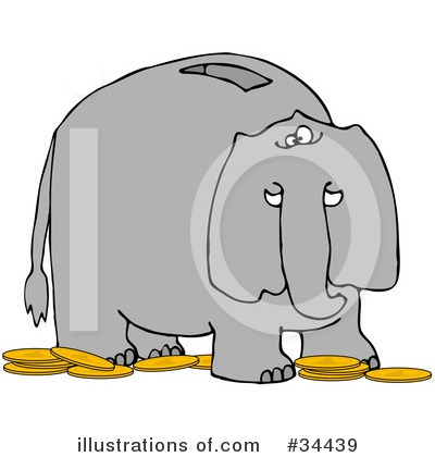Royalty-Free (RF) Elephant Clipart Illustration by djart - Stock Sample #34439