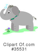 Royalty-Free (RF) Elephant Clipart Illustration #35531