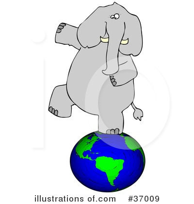 Royalty-Free (RF) Elephant Clipart Illustration by djart - Stock Sample #37009