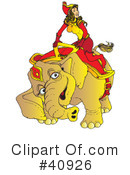 Royalty-Free (RF) Elephant Clipart Illustration #40926
