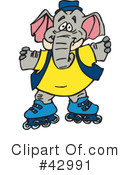 Elephant Clipart #42991 by Dennis Holmes Designs