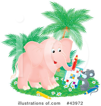 Elephant Clipart #43972 by Alex Bannykh