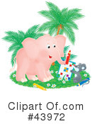 Royalty-Free (RF) elephant Clipart Illustration #43972