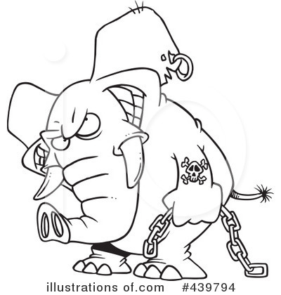 Elephant Clipart #439794 - Illustration by toonaday