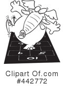 Royalty-Free (RF) Elephant Clipart Illustration #442772