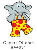 Royalty-Free (RF) Elephant Clipart Illustration #44831