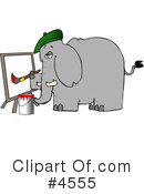 Royalty-Free (RF) Elephant Clipart Illustration #4555