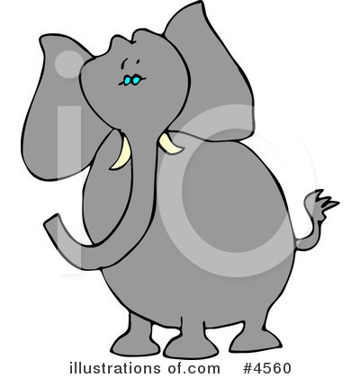 Royalty-Free (RF) Elephant Clipart Illustration by djart - Stock Sample #4560