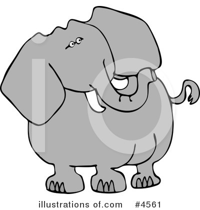 Elephant Clipart #4561 by djart