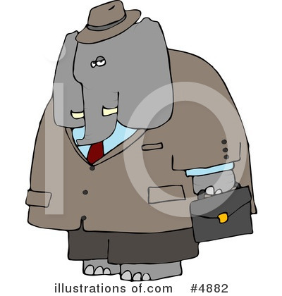 Elephant Clipart #4882 by djart