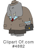 Royalty-Free (RF) Elephant Clipart Illustration #4882