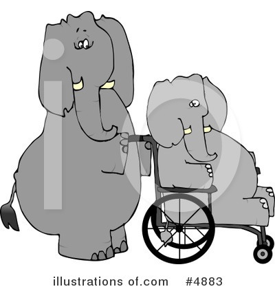 Elephant Clipart #4883 by djart