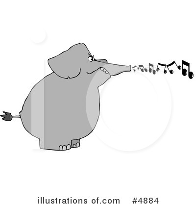 Royalty-Free (RF) Elephant Clipart Illustration by djart - Stock Sample #4884