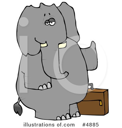 Elephant Clipart #4885 by djart