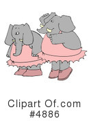 Royalty-Free (RF) Elephant Clipart Illustration #4886