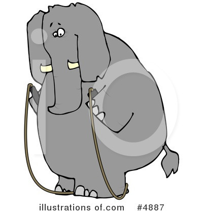 Royalty-Free (RF) Elephant Clipart Illustration by djart - Stock Sample #4887