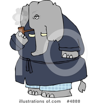 Elephant Clipart #4888 by djart