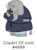 Royalty-Free (RF) Elephant Clipart Illustration #4888