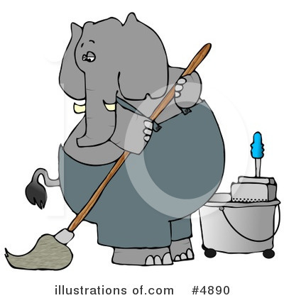 Royalty-Free (RF) Elephant Clipart Illustration by djart - Stock Sample #4890