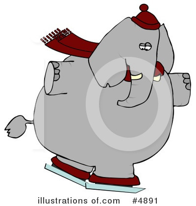 Elephant Clipart #4891 by djart