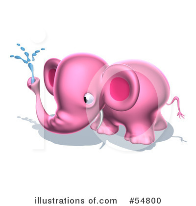 Pink Elephant Clipart #54800 by Julos
