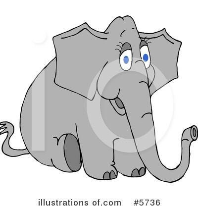 Royalty-Free (RF) Elephant Clipart Illustration by djart - Stock Sample #5736
