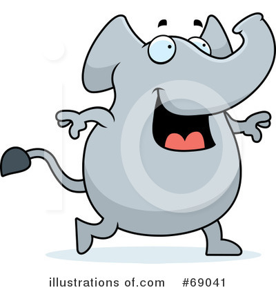 Elephant Clipart #69041 by Cory Thoman
