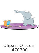 Royalty-Free (RF) Elephant Clipart Illustration #70700
