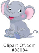Royalty-Free (RF) Elephant Clipart Illustration #83084