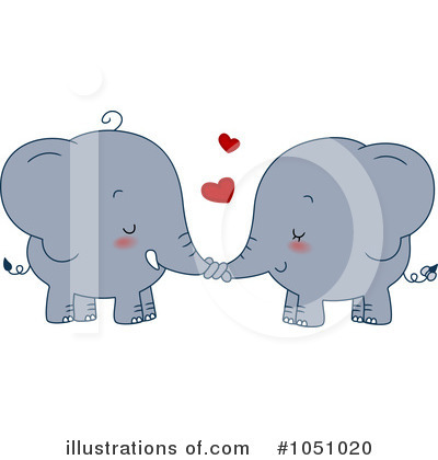 Elephants Clipart #1051020 by BNP Design Studio