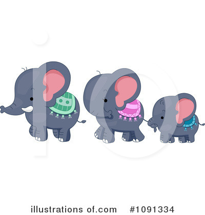 Elephant Clipart #1091334 by BNP Design Studio