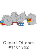 Royalty-Free (RF) Elephants Clipart Illustration #1181992